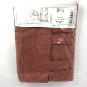 "New Ikea Lenda Curtain Panels 1 pair 55""x89"" Orange Cotton"